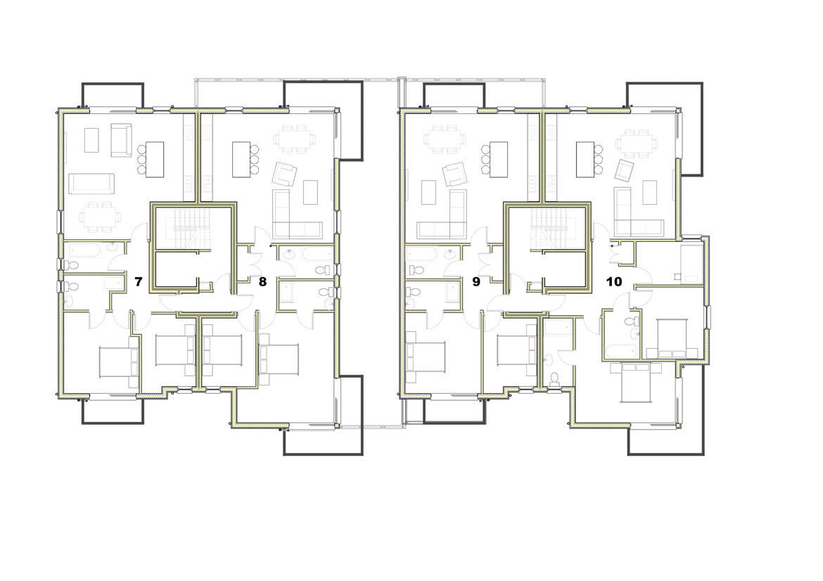 Trelyon Apartments Second Floor Plan