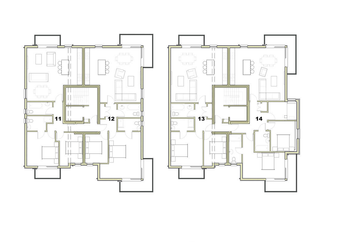Trelyon Apartments Third Floor Plan